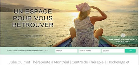 Julie Ouimet therapist in Montreal